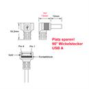 CU-B44-D-30: USB-Kabel A gewinkelt an Micro B gerade 3m