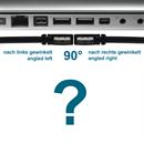 CU-AR-05-BK: Kurzes USB 2.0 Kabel AB, Stecker A abgewinkelt RECHTS, 50cm